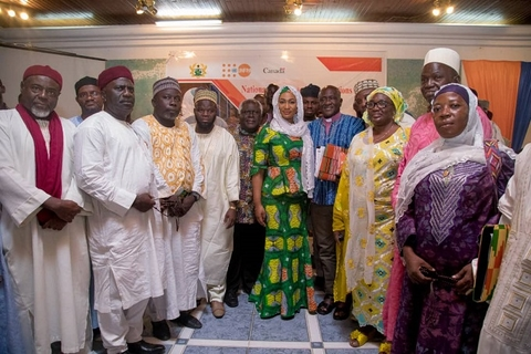 HE Samira Bawumia in a group photo with some of the Religious Leaders
