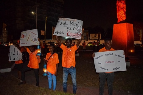 Some of the the YoLe Fellows at the vigil