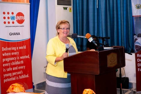 The Canadian High Commissioner to Ghana Ms Heather Cameron addressing the gathering