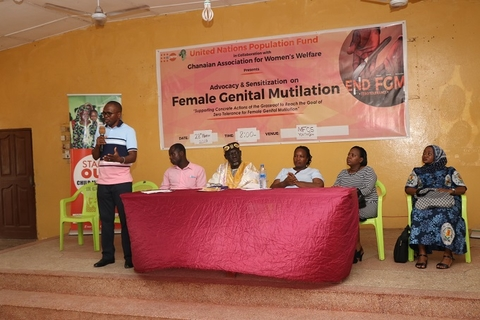 UNFPA Gender Prog Associate Mr Faisal Bawa answering questions from participants
