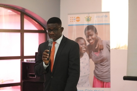 UNFPA Ghana Representative, Mr Niyi Ojuolape making some remarks at the working session