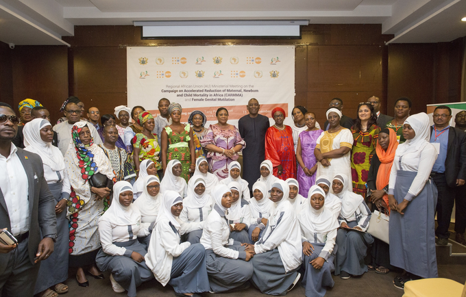 First Lady of Ghana in a group photo with participants