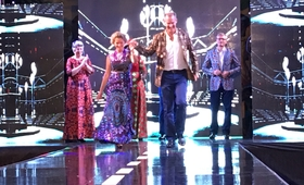 UN Resident Coordinator Christine Evans Klock on the runway with other Diplomats